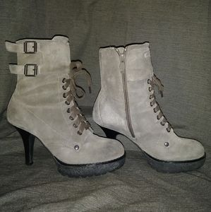 Grey Suede ASH Heeled Boots
